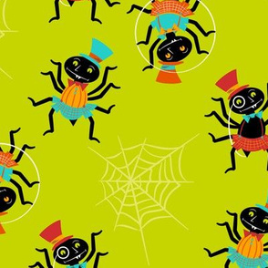 Dapper Spiders ~ On Green