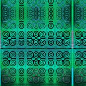 Ikat Adinkra Primitive in Turquoise
