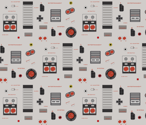 8bit Memories fabric by ilikemeat on Spoonflower - custom fabric