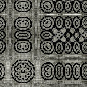 Ikat Charcoal Primitive Weave