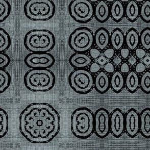 Ikat Charcoal Weave