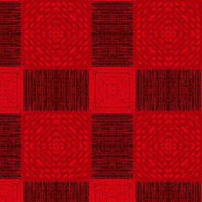 Ikat Plaid Weave in Red