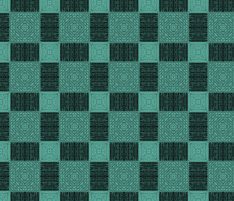 Teal to Turquoise Plaid fabric by wren_leyland on Spoonflower - custom fabric
