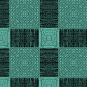 Teal to Turquoise Plaid