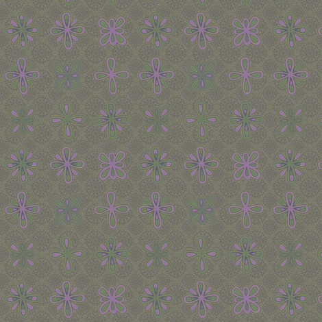 MEDALLION_LACE_LILACS fabric by glimmericks on Spoonflower - custom fabric