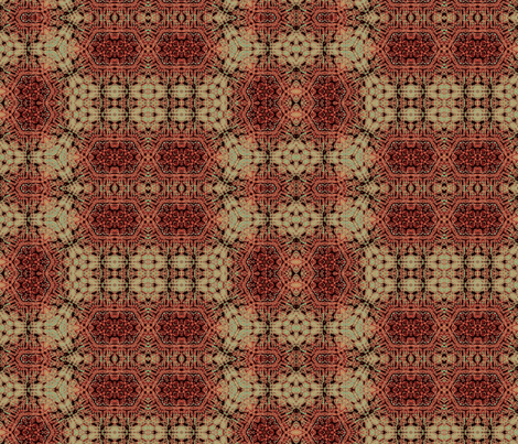 Cranberry Victorian Holiday   fabric by wren_leyland on Spoonflower - custom fabric