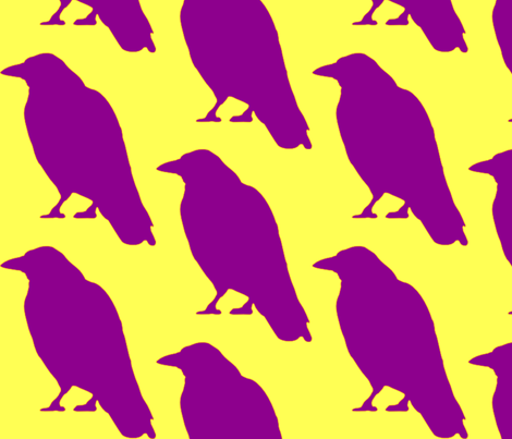 Purple Raven fabric by dreamskyart on Spoonflower - custom fabric