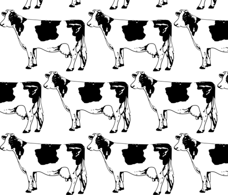 Moo Cow Boogie fabric by dreamskyart on Spoonflower - custom fabric