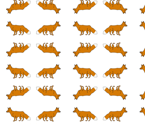 Fox Trot fabric by solardropper420 on Spoonflower - custom fabric