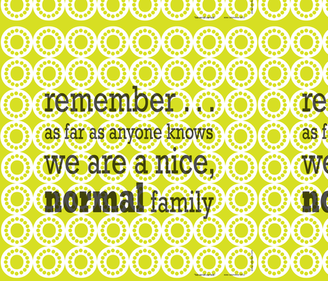 normal family cushion panel fabric by catandvee on Spoonflower - custom fabric