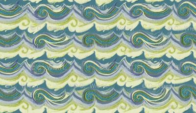 Aegean Sea - Greek Stucco series, small waves