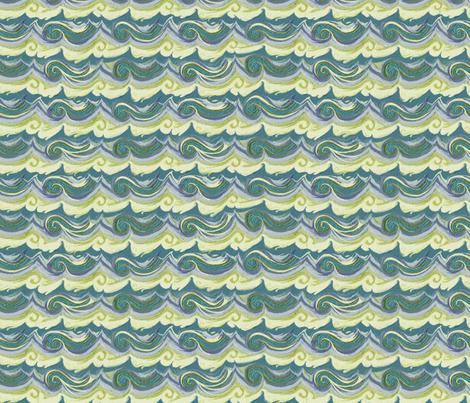 Aegean Sea - Greek Stucco series, small waves fabric by wren_leyland on Spoonflower - custom fabric
