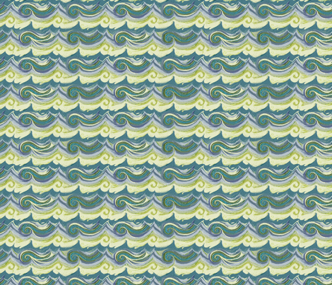Aegean Sea - Greek Stucco series, small waves fabric by wren_leyland on Spoonflower - custom fabric