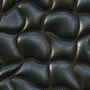 Wave-quilted leather