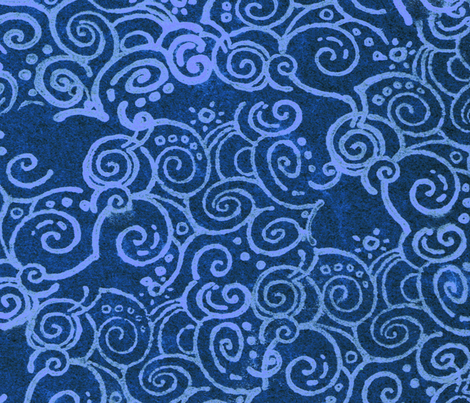 curl of smoke blue fabric by chicca_besso on Spoonflower - custom fabric