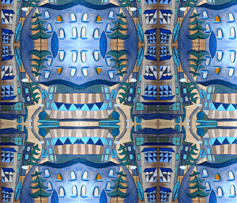 urban landscape fabric by feltnlove_ on Spoonflower - custom fabric