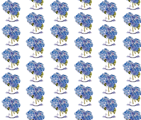 Cape Cod Hydrangeas fabric by karenharveycox on Spoonflower - custom fabric