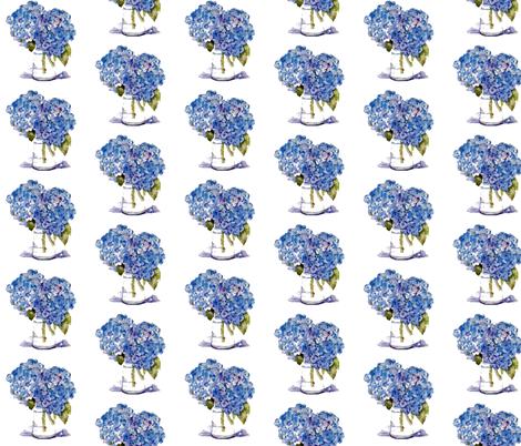 Cape Cod Hydrangeas fabric by karenharveycox on Spoonflower - custom fabric