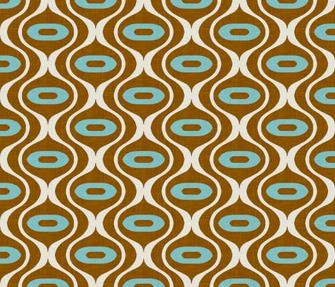 raindrop_rust_and_turquoise fabric by holli_zollinger on Spoonflower - custom fabric