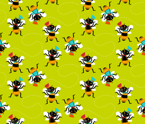 Busy Bees ~ On Green