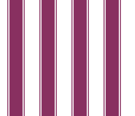 Fat Stripes Cabana in Plum / Purple  fabric by fridabarlow on Spoonflower - custom fabric