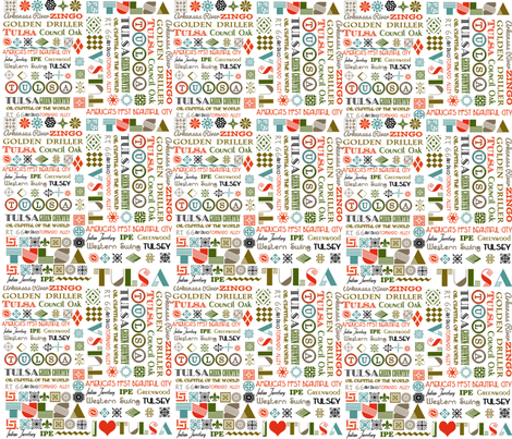 Tulsa Words  fabric by tulsa_gal on Spoonflower - custom fabric