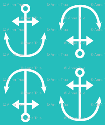 turquoise anchors