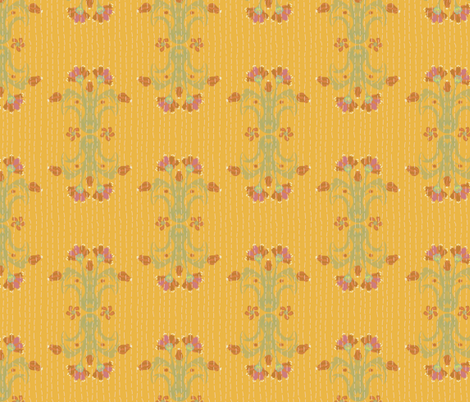 Kantha Bouquet 2 fabric by bee&lotus on Spoonflower - custom fabric