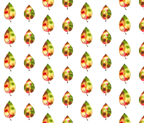 Autumn Leaves fabric by fabricandfairytales on Spoonflower - custom fabric