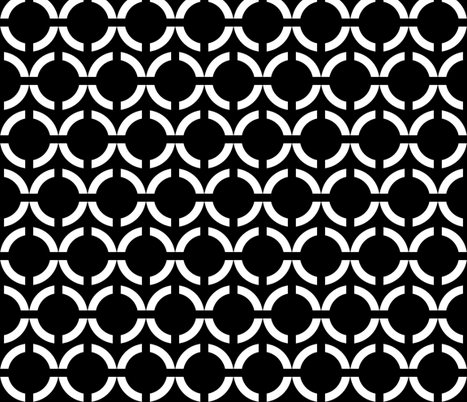 Unlinked 2 White on Black fabric by pond_ripple on Spoonflower - custom fabric
