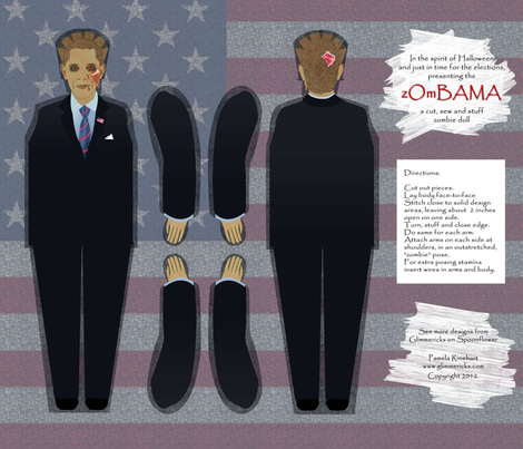 zOmBAMA doll fabric by glimmericks on Spoonflower - custom fabric