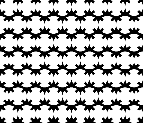 Unlinked Star Variant 2 White on Black fabric by pond_ripple on Spoonflower - custom fabric