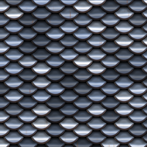 Scale Armour - Silver / Steel fabric by bonnie_phantasm on Spoonflower - custom fabric