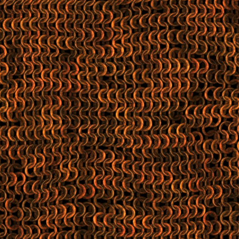 Chainmail - Gold / Brass / Copper fabric by bonnie_phantasm on Spoonflower - custom fabric