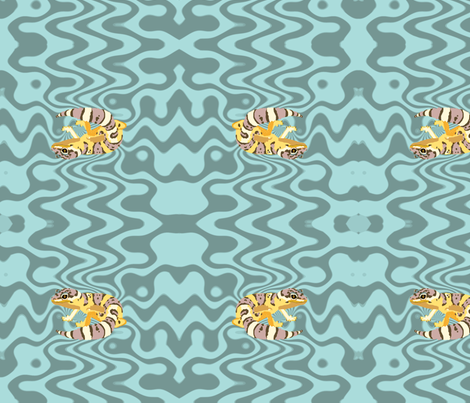 Leopard Gecko Fabric fabric by featheralchemist on Spoonflower - custom fabric