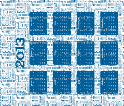 Tardis for Tea 2013 Tea Towel Calendar