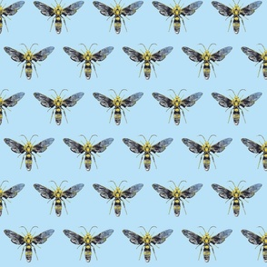 Bug Off- small blue