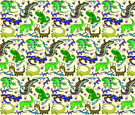 LITTLE LIZARDS fabric by bluevelvet on Spoonflower - custom fabric
