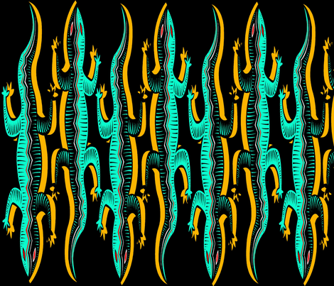 LIZARD LINES fabric by bluevelvet on Spoonflower - custom fabric