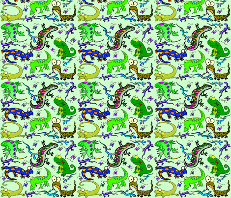 LIZARD MANIACS fabric by bluevelvet on Spoonflower - custom fabric