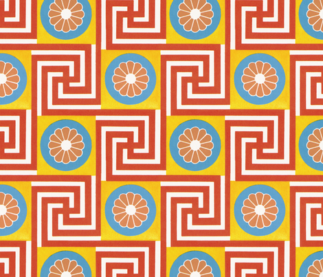 Egyptian bebop fabric by unseen_gallery_fabrics on Spoonflower - custom fabric