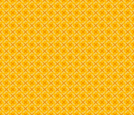 Celtic_Squares_on_Golden_Orange_01 fabric by trismegistus on Spoonflower - custom fabric