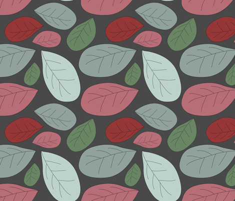 retro leaves fabric by kociara on Spoonflower - custom fabric