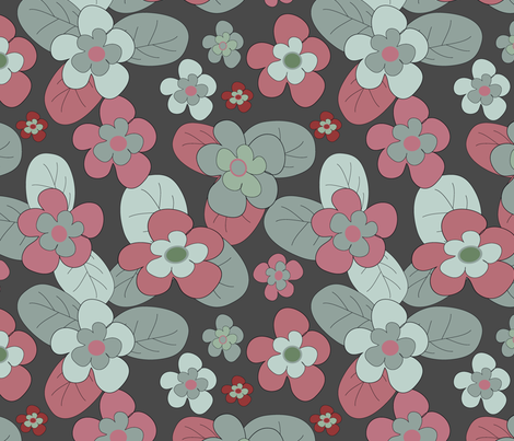 retro flowers fabric by kociara on Spoonflower - custom fabric
