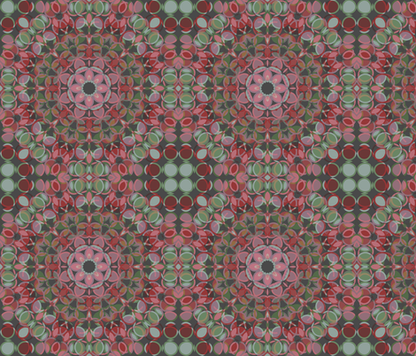retro geometry in kaleidospope fabric by kociara on Spoonflower - custom fabric