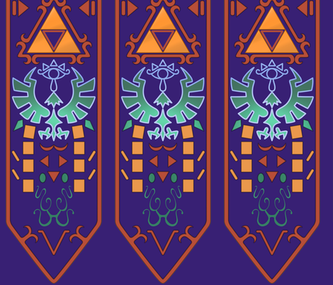 15 inch Zelda Sash fabric by athey on Spoonflower - custom fabric