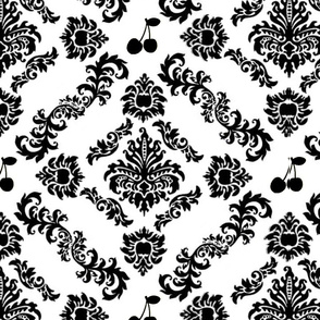 Cherry Damask Wallpaper (small)