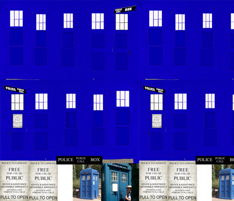 Tardis_corset fabric by whotookmyname on Spoonflower - custom fabric