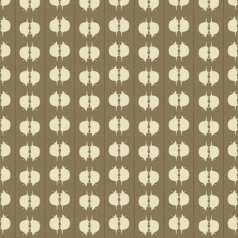 Armadillo Spot - Ivory on Taupe fabric by maplewooddesignstudio on Spoonflower - custom fabric
