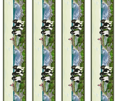 Newfoundland border seascape fabric by dogdaze_ on Spoonflower - custom fabric